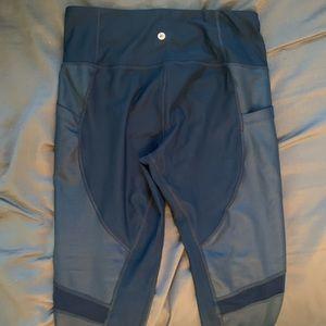90 degree navy mesh leggings